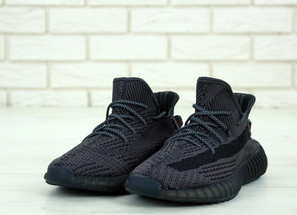 Кроссовки Adidas Yeezy 350 v2 static reflective Black 3
