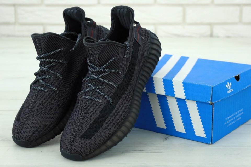 Кроссовки Adidas Yeezy 350 v2 static reflective Black