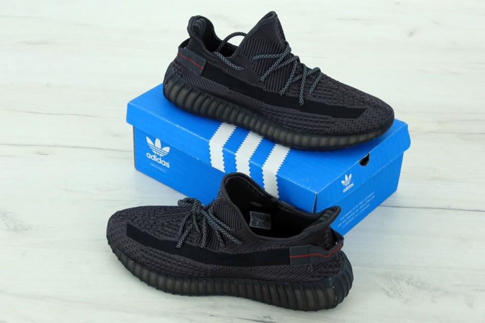 Кроссовки Adidas Yeezy 350 v2 static reflective Black 5