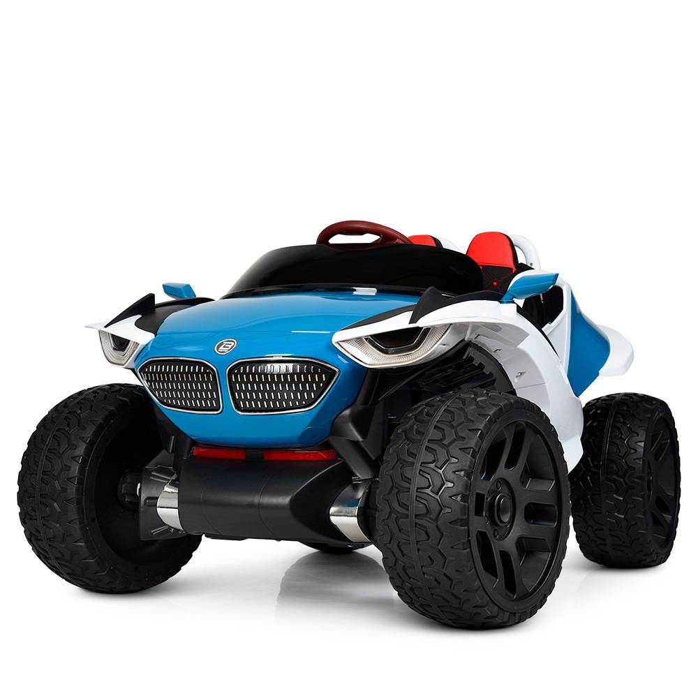 Детский двухместный электромобиль 4WD M 4064EBLR-4 синий