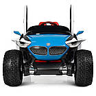 Детский двухместный электромобиль 4WD M 4064EBLR-4 синий, фото 5