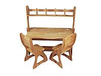 Комплект 2 стула C300, парта P112-1 и надстройка H112
