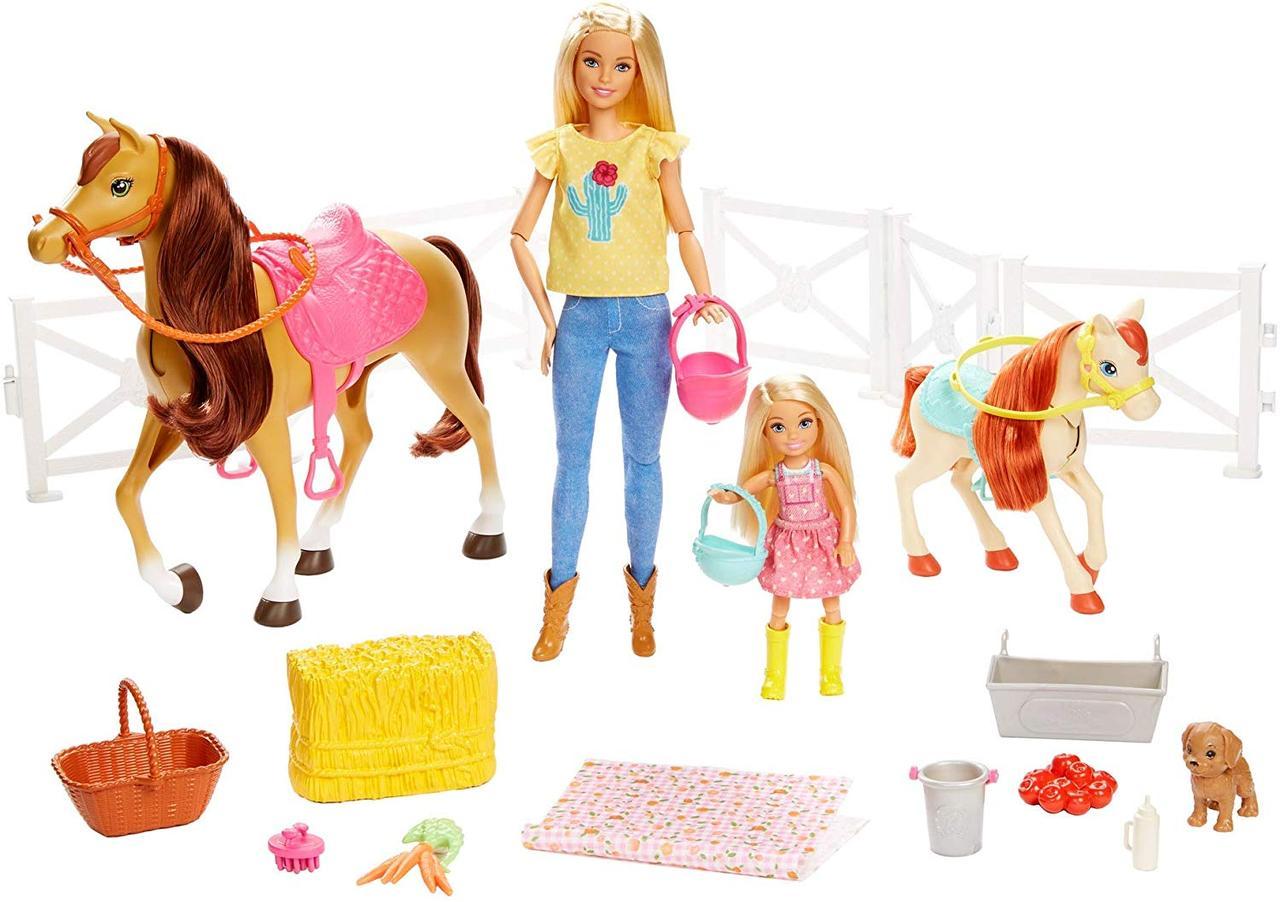 Barbie Верховая езда на лошадках и объятия (Барби и Челси) FXH15