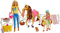 Barbie Верховая езда на лошадках и объятия (Барби и Челси) FXH15, фото 3