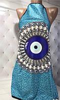 Голубой,  фартук, с 3Д изображением, Турция