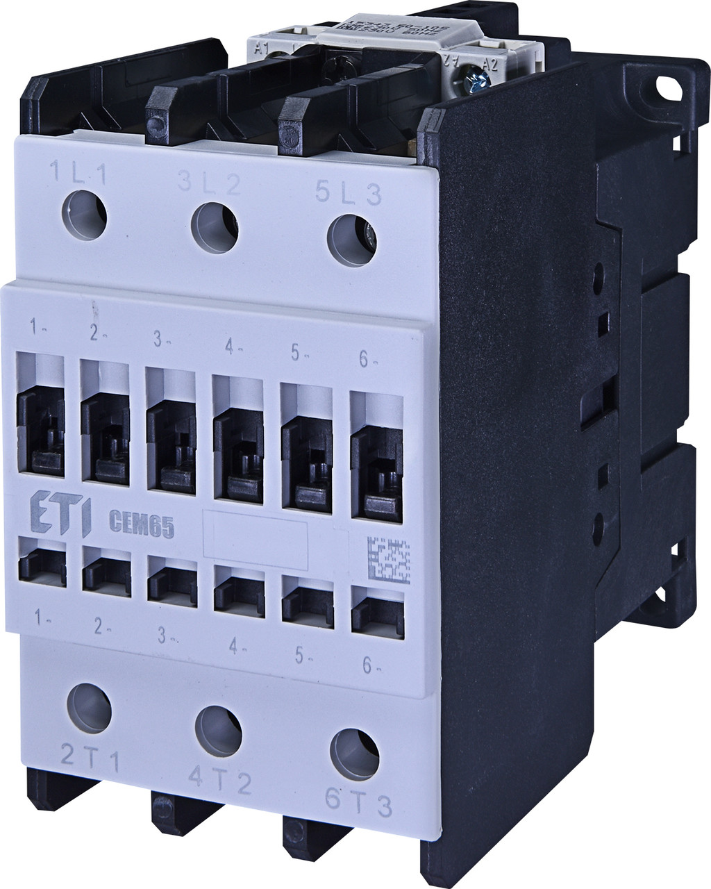 Контактор силовой ETI CEM 65.00 65А 230V AC 3NO 30kW 4649103 (на DIN-рейку, 110A AC1, 65A AC3)