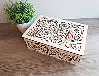 Шкатулка декоративная резная, коробка для рукоделия, шкатулка для украшений, ларец