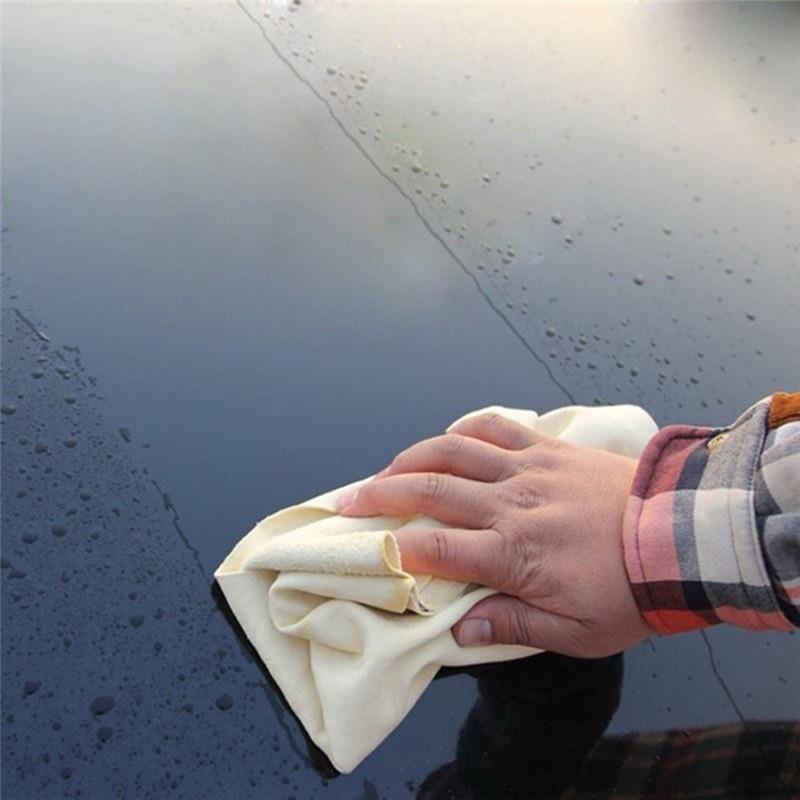 Натуральная замшевая тряпочка 70*50 см для протирки автомобиля