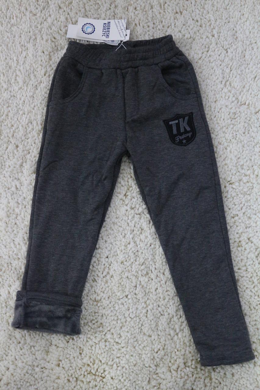 Теплые штаны для мальчика на травке ТК. Размер 8 лет