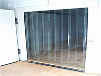 Холодосберегающая (-30С) ПВХ завеса для морозильных камер Н2000х1425мм, лента 200х2 мм, комплект с карнизом, фото 1