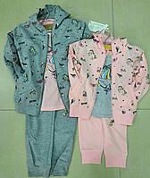 Спортивный костюм трикотажный для девочек 98/128 см