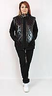 Турецкий женский костюм тройка больших размеров 60 62 64