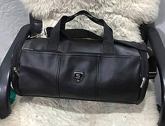 Черная сумка из искусственной кожи для спорта 46*23*23 см