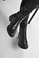 Женские ботинки черные кожаные 38