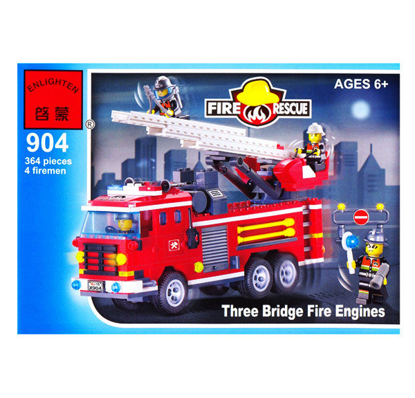Конструктор Пожарная машина спасателей Brick 904