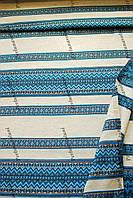 Ткань для вышиванок  скатертей с украинским орнаментом Рандеву ТДК-110 1/2