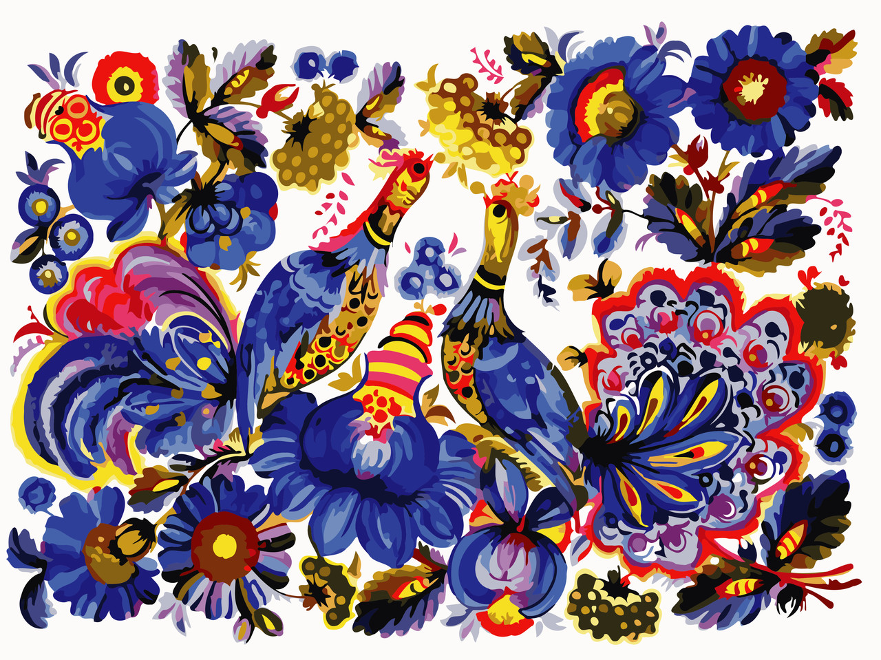 Художественный творческий набор, картина по номерам Петриковская роспись, 40x30 см, «Art Story» (AS0780)