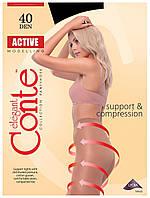 Колготки Conte Active 40 Den Черный (Nero) размер 4