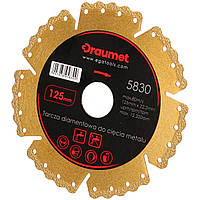 Круг алмазний по металу DRAUMET 125 мм (код 5830)