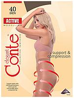 Колготки Conte Active 40 Den Кавовий (Mocca) розмір 4