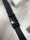 Шкіряна чоловіча сумка бананка Louis Vuitton чорна Натуральна шкіра сумка на пояс VIP Луї Віттон репліка, фото 2