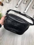 Шкіряна чоловіча сумка бананка Louis Vuitton чорна Натуральна шкіра сумка на пояс VIP Луї Віттон репліка, фото 5