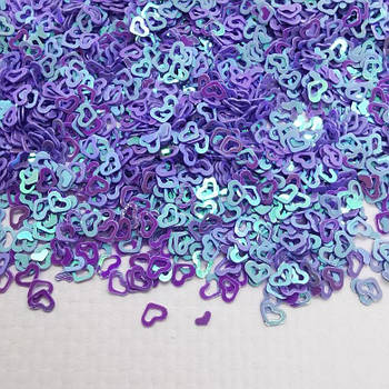 Глиттерные сердечки фиолетовые от 5г ;