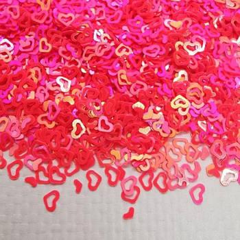 Глиттерные сердечки ярко-розовые от 5г ;