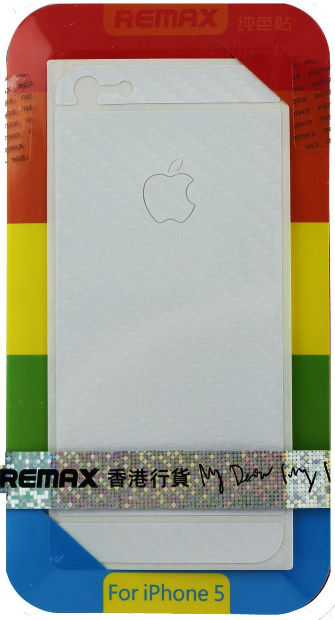 Захисна плівка Remax для iPhone 5/5S/5SE (front + back) Pure Sticker White