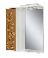 Зеркало для ванной 60-01 левое Скрипулянт + листок