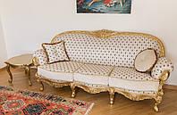 """Элитный прямой диван в стиле Рококо """"Ника"""", в классическом стиле, от производителя, из натурального дерева"""