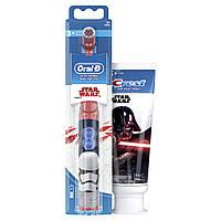 Набор электрическаядетскаязубнаящетка и паста Crest Звездные войны Oral-B Star WarsToothbrush оригинал