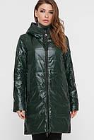 Демисезонная женская куртка зелёного цвета,  размер 42-52