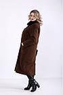 Коричневе пальто з кашеміру стильне жіноче великого розміру (різні версії) 42-74. T01362-3, фото 2