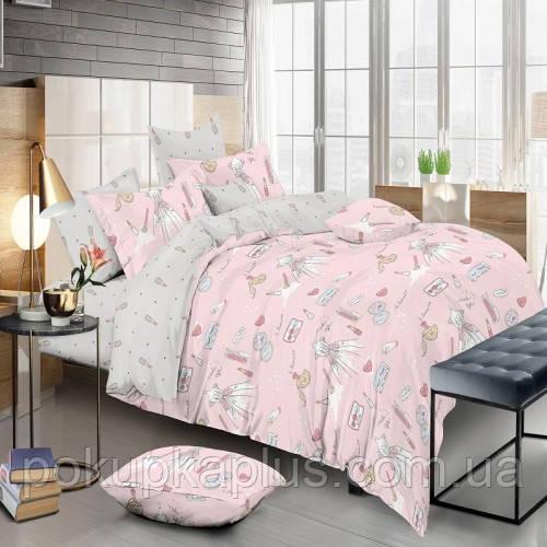 Комплект постельного белья Гламур  Сатин полуторный 122-PC-A-B