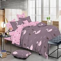 Комплект постельного белья Фламинго Сатин полуторный KWL-1901-A-B
