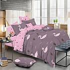 Комплект постельного белья Фламинго Сатин 180х210 двуспальный KWL-1901-A-B
