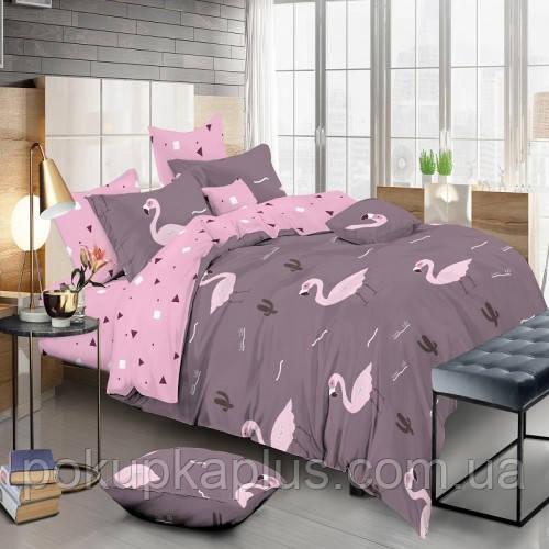 Комплект постельного белья Фламинго Сатин Семейный KWL-1901-A-B