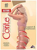 Колготки Conte Active 40 Den Тілесний (Natural) розмір 3, фото 1