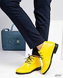 Стильные демисезонные женские ботинки на шунровке, фото 2