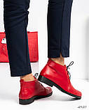 Стильные демисезонные женские ботинки на шунровке, фото 7
