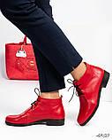 Стильные демисезонные женские ботинки на шунровке, фото 8