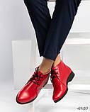 Стильные демисезонные женские ботинки на шунровке, фото 9