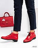 Стильные демисезонные женские ботинки на шунровке, фото 10