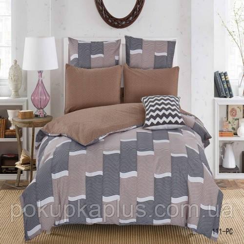 Комплект постельного белья Абстракция Сатин 200х215 Евро 1113-PC-A-B