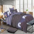 Комплект постельного белья Олень и ночное небо Сатин Евро 490-SL-A-B