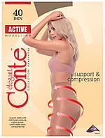 Колготки Conte Active 40 Den Кофейный (Shade) размер 2, фото 1