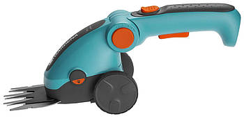 Ножницы аккумуляторные для трави Gardena Comfort Cut+ручка+колеса