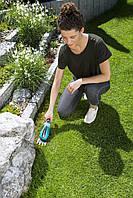 Ножницы аккумуляторные для трави Gardena Comfort Cut+ручка+колеса, фото 3