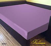 Простынь на резинке Светло фиолетовая 160х190х20